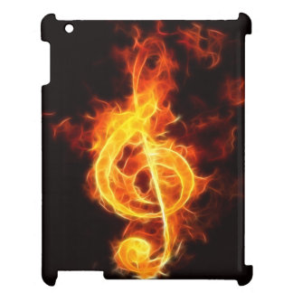 Music Note On Fire Case For The iPad