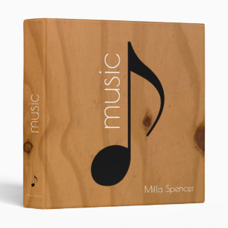 music note on wooden texture, music-lessons 3 ring binder