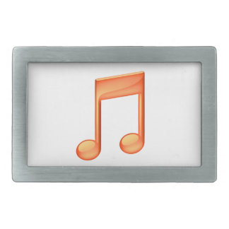 Music Note (Orange) Belt Buckle