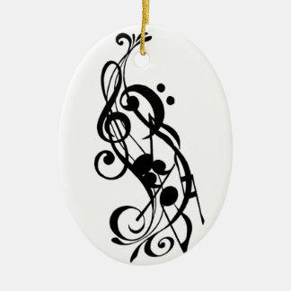 music note ornament