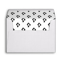 Music Note Pattern Envelope