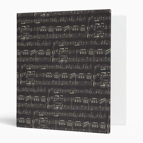 music note Pattern Music Theme Binder
