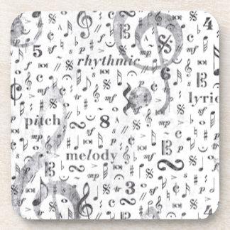 Music Note Pattern Music Theme Coaster