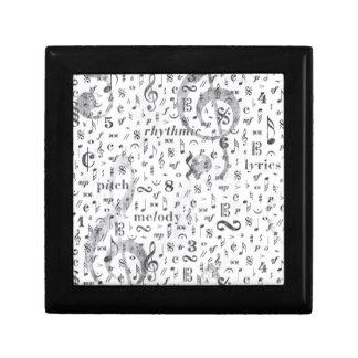Music Note Pattern Music Theme Gift Box