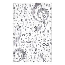 Music Note Pattern Music Theme Stationery
