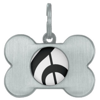 Music Note Pet ID Tag