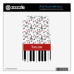Music Note Piano iPod Touch 4th Gen 4g Skin iPod Touch 4G Skin