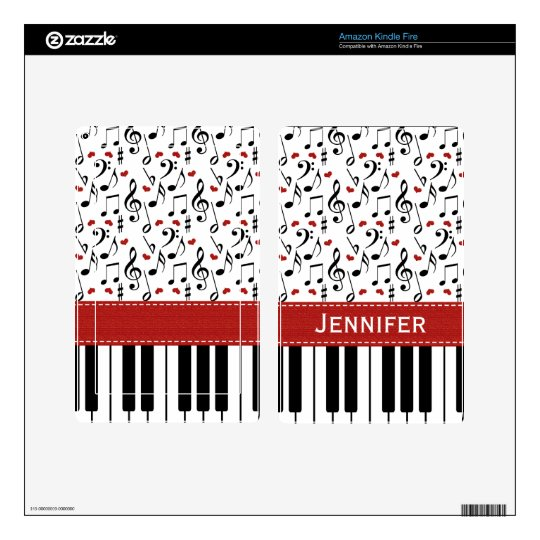 Music Note Piano Kindle Fire Skin