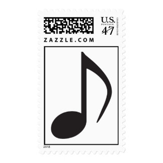 Music note postage stamp