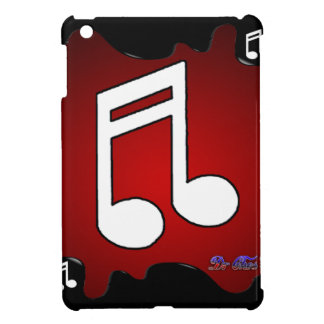 MUSIC NOTE RED BACKGROUND PRODUCTS CASE FOR THE iPad MINI
