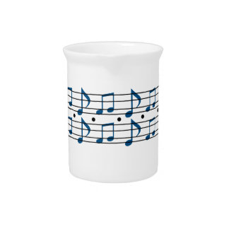 Music Note Scale Drink Pitcher