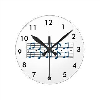 Music Note Scale Round Clock