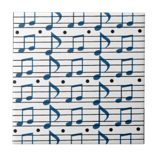 Music Note Scale Small Square Tile