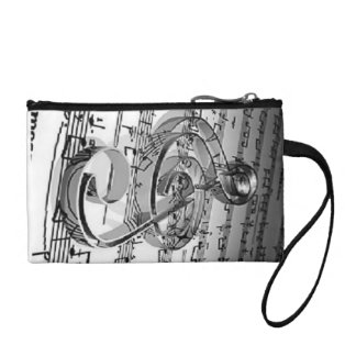 music note sheets purse coin purses
