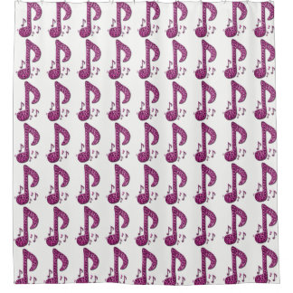 Music Note Shower Curtains
