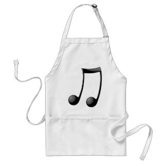 music note symbol adult apron