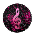 Music Note Symbol Dartboard