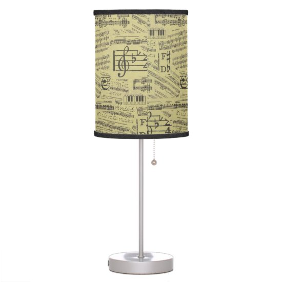Music Note Table Lamp Music Theme