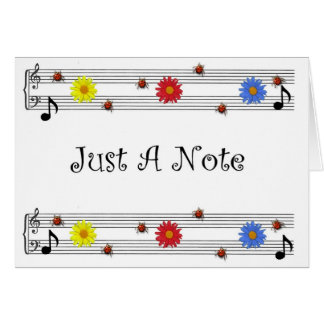 Music Note Thinking Of You Card(Large Print) Greeting Card