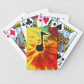 Music Note Tie Dye Bicycle Playing Cards
