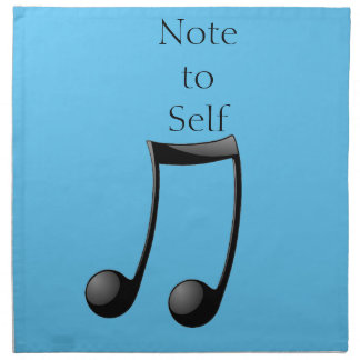 Music Note to Self Cloth Napkin
