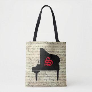 Music Note Tote bag Piano Music Theme
