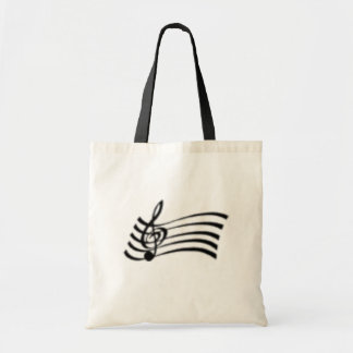 MUSIC NOTE TOTE BUDGET TOTE BAG