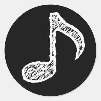 Music Note -White Sticker