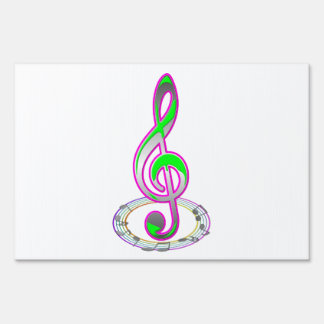Music Note Yard Sign