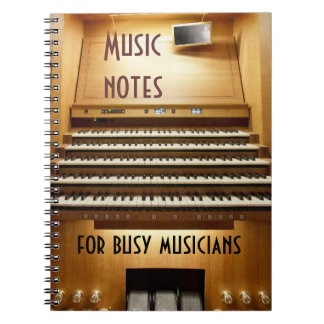 Music notebook for busy musicians