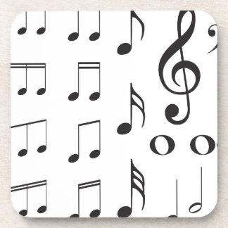 Music Notes 2 Beverage Coaster