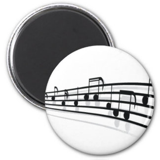 Music Notes 2 Inch Round Magnet