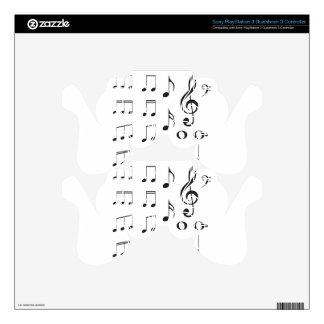 Music Notes 2 PS3 Controller Decal