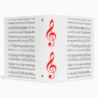Music Notes 3 Ring Binder