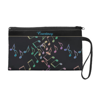 Music Notes 8th Note Chains Wristlet Purse