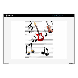 "Music Notes allegory 15"" Laptop Skins"