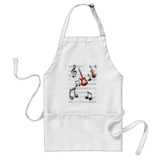 Music Notes allegory Adult Apron
