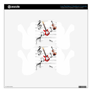 Music Notes allegory Skin For PS3 Controller