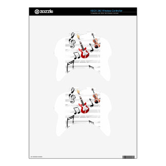 Music Notes allegory Xbox 360 Controller Skins