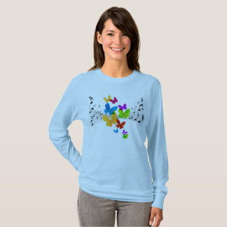 Music Notes and Butterflies T-Shirt