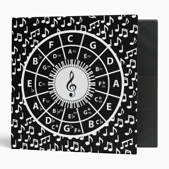 Music notes and circle of fifths binder