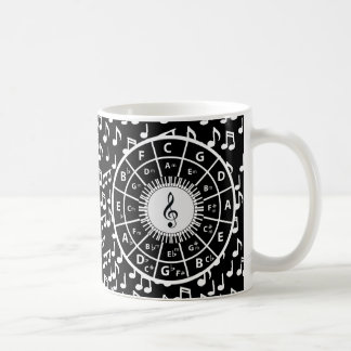 Music notes and circle of fifths coffee mug