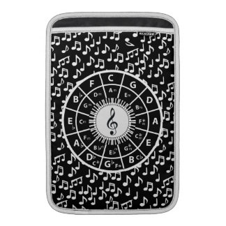Music notes and circle of fifths design MacBook air sleeves
