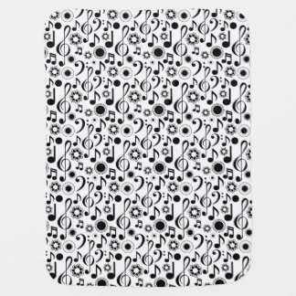 Music Notes and Clefs Baby Blanket