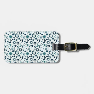 Music Notes and Clefs Bag Tag
