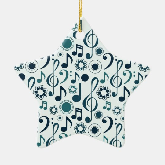 Music Notes and Clefs Ceramic Ornament