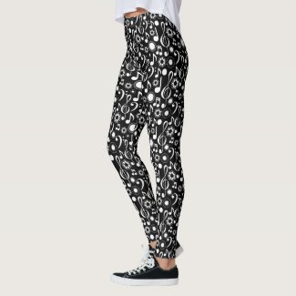 Music Notes and Clefs Leggings