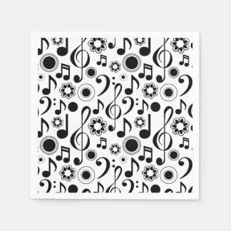 Music Notes and Clefs Napkin