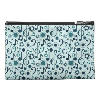 Music Notes and Clefs Travel Accessory Bags