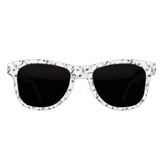 Music Notes and Hearts Sunglasses